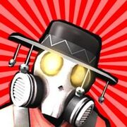 Scout with pyro mask