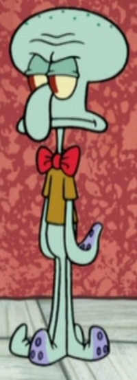 Squidward Wearing a Bow Tie2