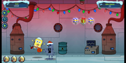 Operation Holiday Hero SpongeBob getting punched