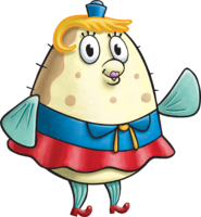 SpongeBob SquarePants Mrs. Puff Character Image Nickelodeon Painted Version