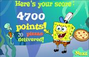 Spongebob Squarepants Spongebob's Pizza Toss Level 2 done