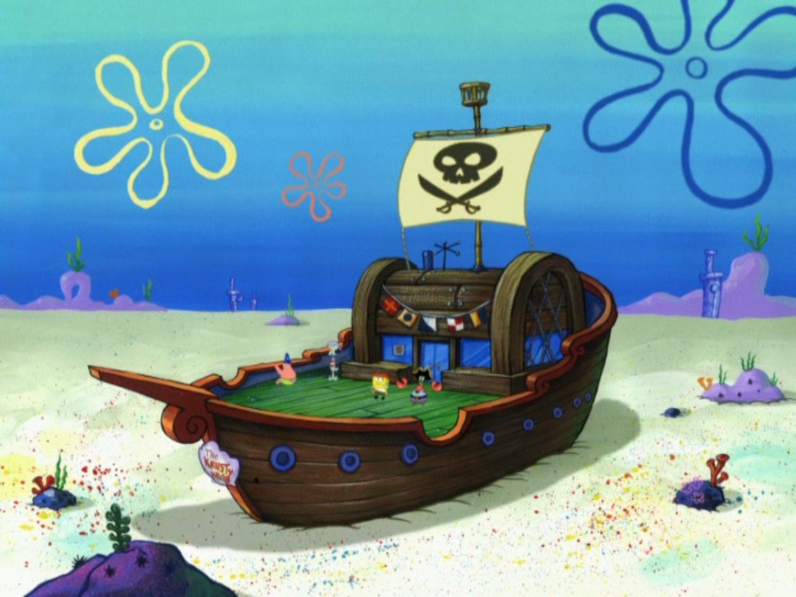 mr krabs u0027 pirate ship encyclopedia spongebobia fandom powered