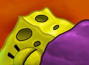SpongeBob asleep