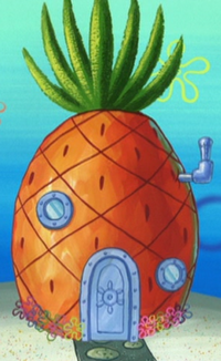 SpongeBob's pineapple house in Season 4-11