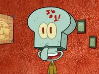 Squidward Wearing His Game Face