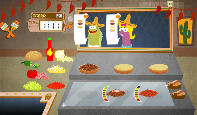 File:SpongeBob, You're Fired! (online game) - Taco Sombrero job.png