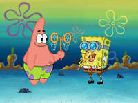 SpongeBob and Patrick Jellyfish Pineapple