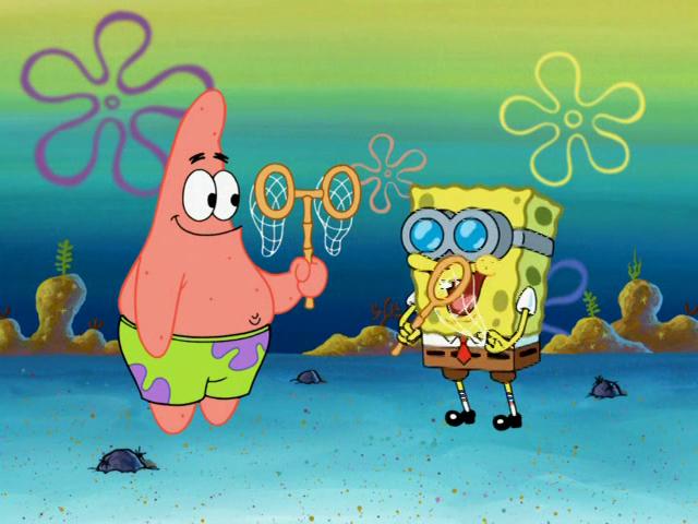 File:SpongeBob and Patrick Jellyfish Pineapple.png