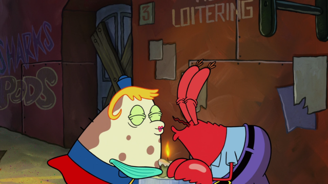 File:SpongeBob SquarePants Mrs Puff and Mr Krabs Kiss.png