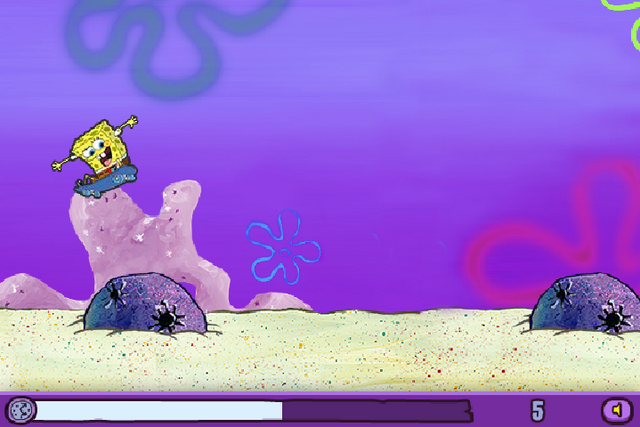 File:SpongeBob jumping over rock in Skater Sponge.png