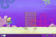 SpongeBob bumping into bamboo bars in Skater Sponge