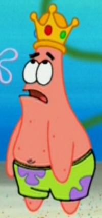 Patrick Wearing a Crown