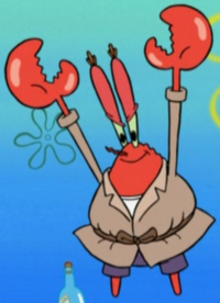 Mr. Krabs Wearing a Trench Coat