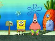 SpongeBob and Patrick waiting