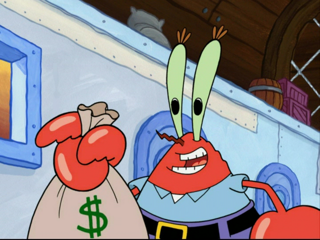 File:Mr Krabs And Money.png