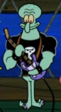 Squidward Wearing His Band Uniform