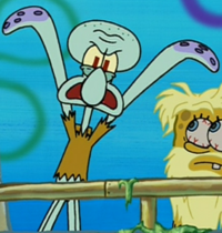 Squidward with a Torn Shirt