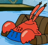 Mr. Krabs Wearing a Swim Suit3