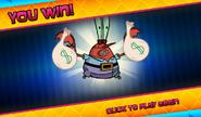 Bikini Bottom Brawlers Robot Krabs you win