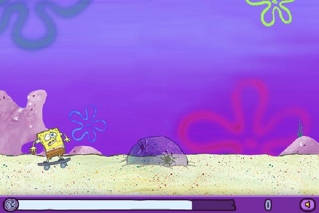 File:SpongeBob bumping into rock in Skater Sponge.png