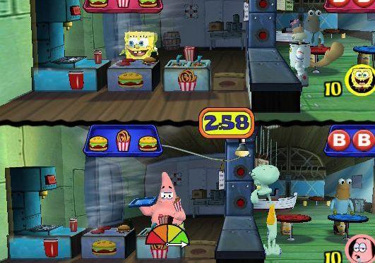 File:3d Spongebob, 3d Squidward & 1 3d Costumers, 3d Sandy & 1 3d Costumers, & 3d Patrick.jpg