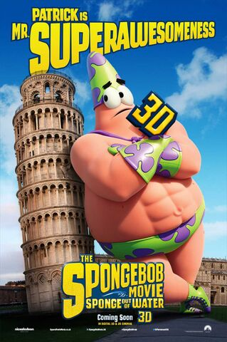 File:The SpongeBob Movie- Sponge Out of Water - Patrick poster.jpg