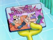 Mermaid Man & Barnacle Boy Fridge Magnet