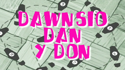 Slimy Dancing Title Card Welsh