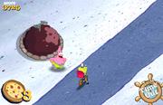 Spongebob Squarepants Spongebob's Pizza Toss Time up Patrick