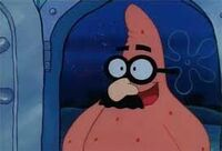 Patrick in disguise glasses