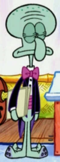Squidward Wearing Fancy Clothes6