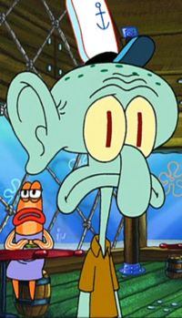 Squidward with an Ear