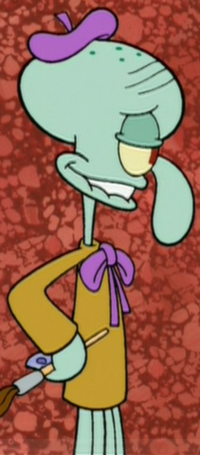 Squidward as an Artist