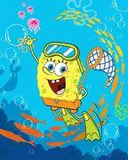 SpongeBob Swimming