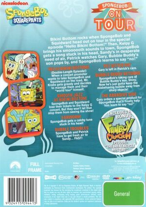 SpongeBob On Tour DVD Back Cover