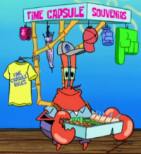 Mr. Krabs as a Souvenir Salescrab