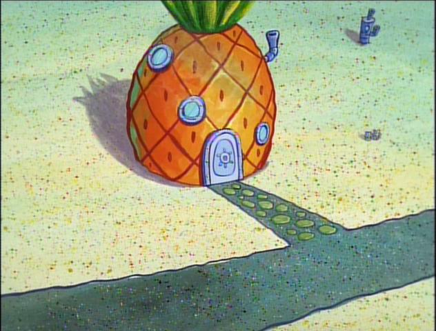 File:SpongeBob's pineapple house in Season 1-3.png
