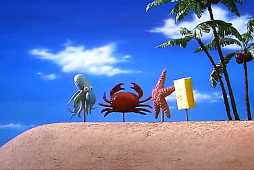 File:Real Squidward Mr. Krabs Patrick and SpongeBob.png