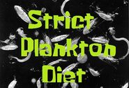 Strict Plankton Diet
