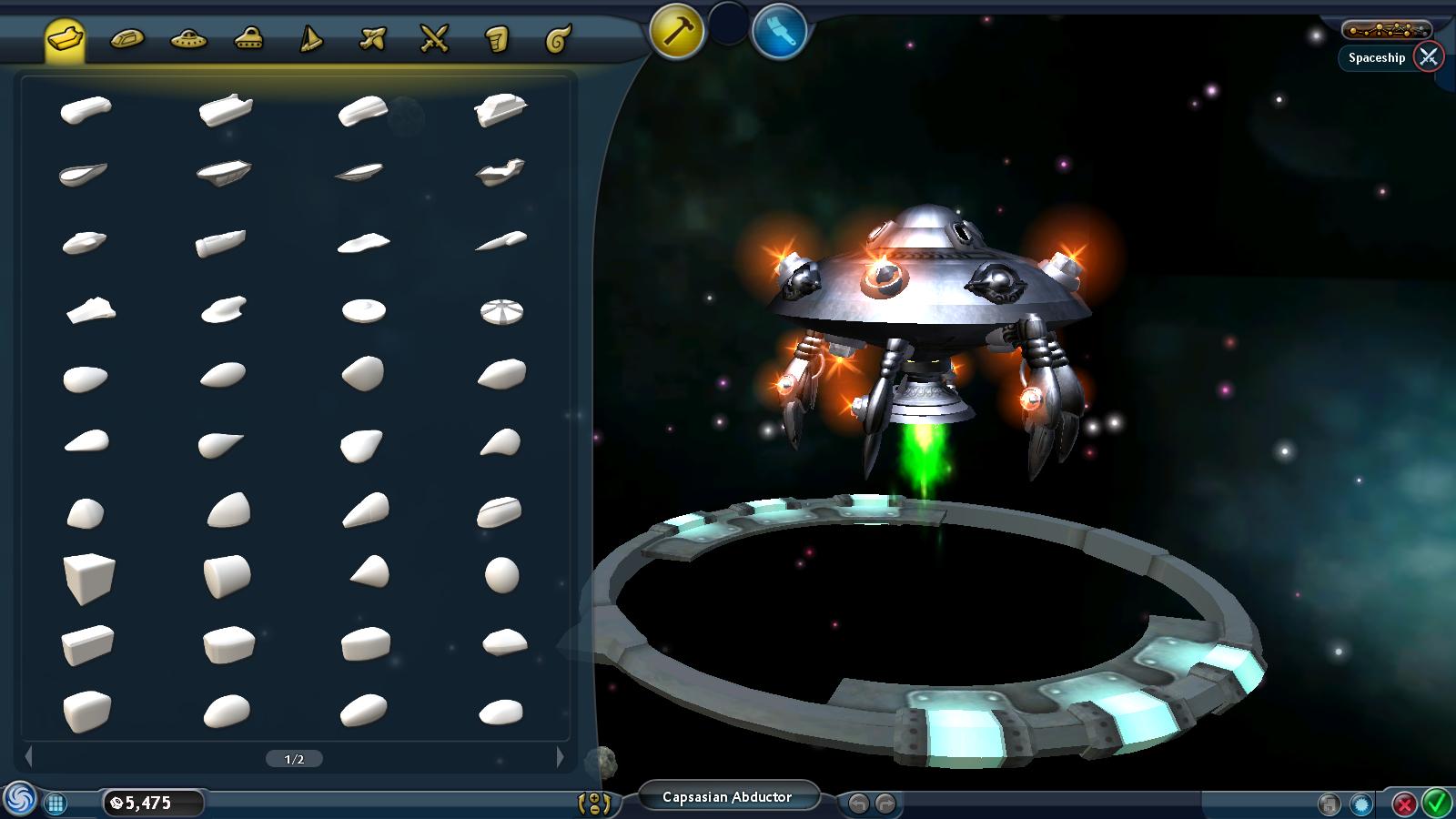 Spaceship Editor | SporeWiki | FANDOM powered by Wikia