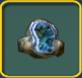 Blue geode icon