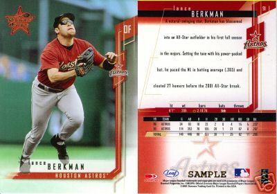 2001 Leaf RS Baseball Sample