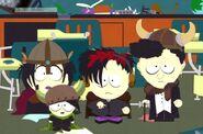 Goth kids desks
