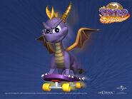 Spyro on a Skateboard Wallpaper