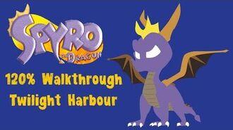 Spyro the Dragon 120% Walkthrough - 33 - Twilight Harbour