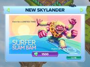 Surfer Slam Bam Announcement Bullet