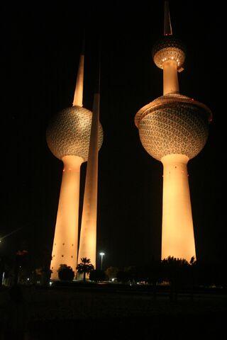 File:RealWorld Towers of Kuwait (Night).jpg