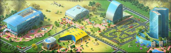 Megapolis Auto Show Background