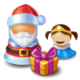 Contract Children Meeting Santa Claus