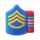Badge Military Level 10